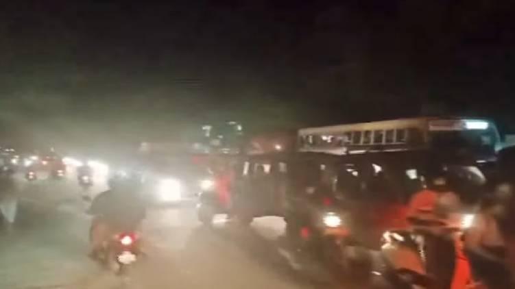 traffic block alappuzha highway