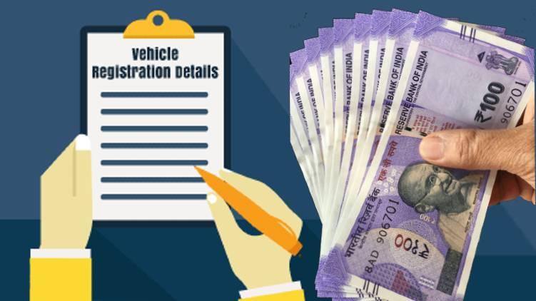 vehicle registration price india