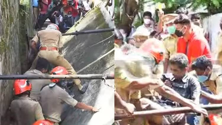 wall collapsed kaloor