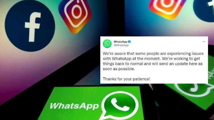 whatsapp facebook down confirmed